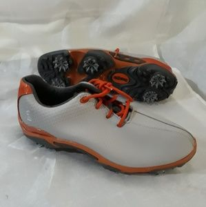 FOOTJOY DRYJOYS DNA GOLF SHOES GREY/ORANGE
